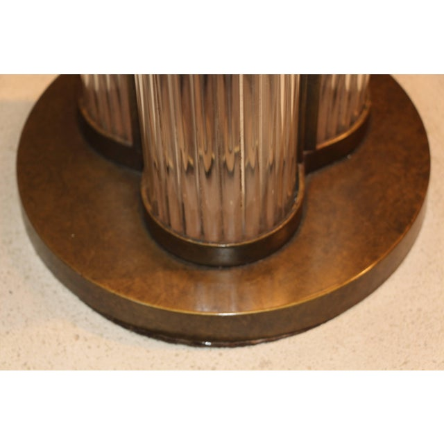 Mid 20th Century Bronze Patina Steve Chase Designed Lamp For Sale - Image 5 of 9