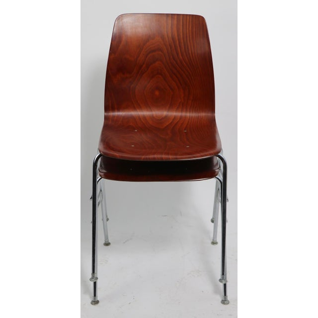 Mid-Century Modern Pr. Royal Pagholz Mid Century Stacking Chairs For Sale - Image 3 of 9