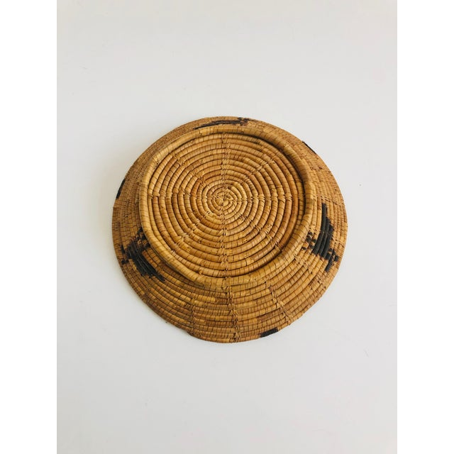 Vintage Native American Tohono O'Odham Basket Tray With Bird Motif For Sale In San Francisco - Image 6 of 7