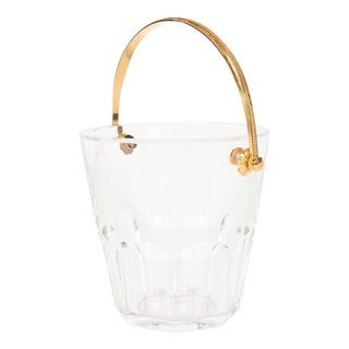 Ultra-Luxe Crystal Ice Pail with 24-Karat Gilt Handle by Baccarat For Sale