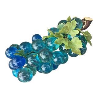 1960s Vintage Blue Lucite Large Grape Bunch For Sale