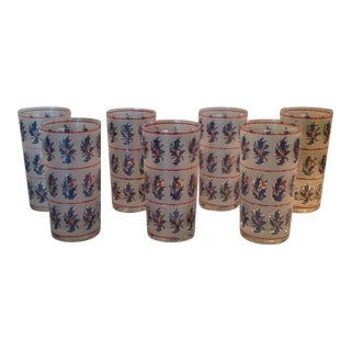 1970s Vintage Holiday Barware Glasses - Set of 7 For Sale
