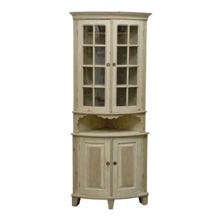 Late 18th Century Period Swedish Gustavian Painted Wood Cabinet For Sale