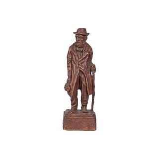 """Vintage Jo Mead """"Wanderer"""" Figural Sculpture For Sale"""