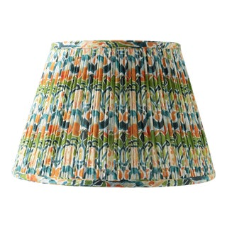 """Kaleidoscope in Orange and Green 12"""" Lamp Shade, Green For Sale"""