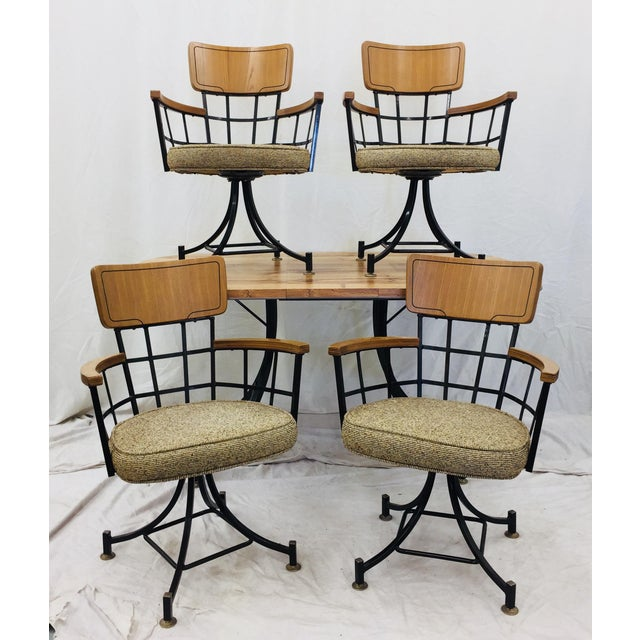 Stunning Vintage Mid Century Modern Eames Era Paul McCobb Dining Set complete with Original Chairs & Matching Table. Set...