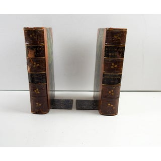 19th Century Art Nouveau Leather and Paper Book Bookends - Set of 5 Preview