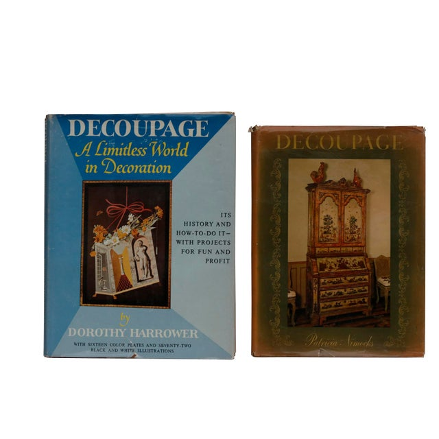 Blue 1960's Decoupage Hardcover Books, Set of 2 For Sale - Image 8 of 8