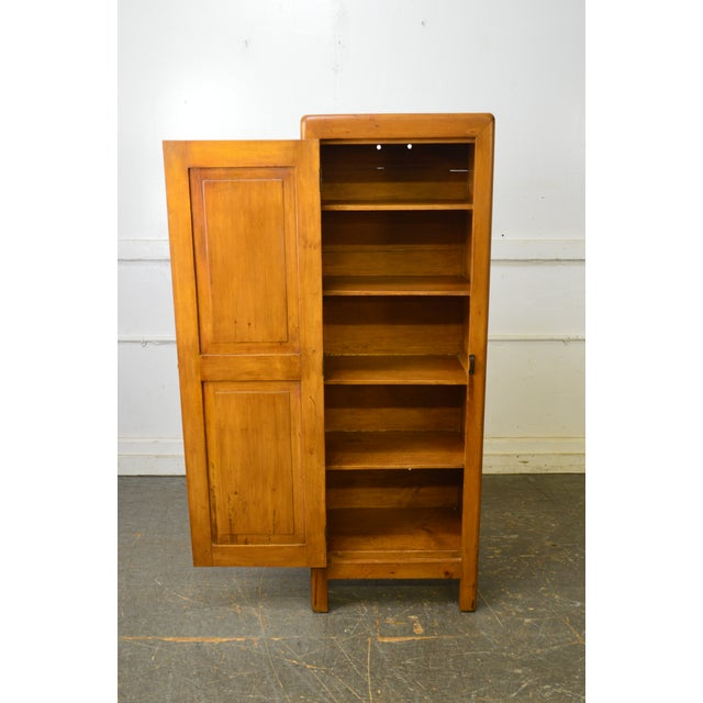 Country Antique 19th Century Poplar & Pine Chimney Cupboard From Lehigh Valley For Sale - Image 4 of 13