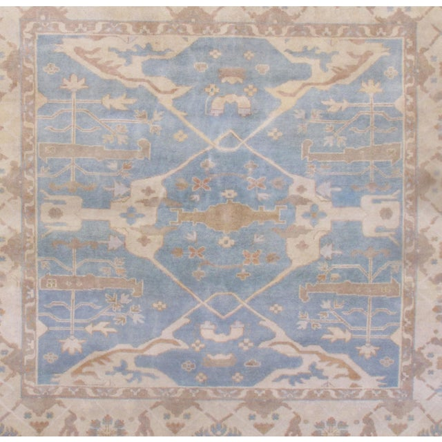Textile Pasargad N Y Oushak Wool Rug - 8′8″ × 9′9″ For Sale - Image 7 of 8
