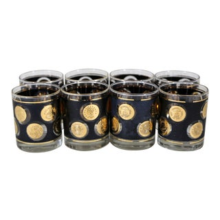 Libby Coin Old Fashioned Glasses - Set of 8