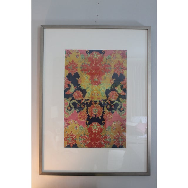 Vintage Orange and Pink Remand Print by Sochier and Marian For Sale In New Orleans - Image 6 of 6