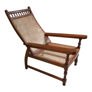 Antique Colonial Teak Plantation Chair For Sale