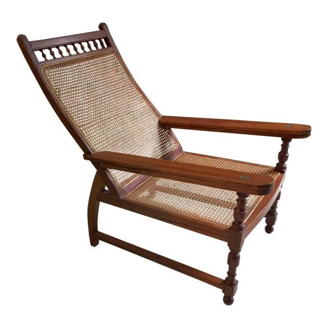 Antique Colonial Teak Plantation Chair - Image 1 of 5 - Antique Colonial Teak Plantation Chair Chairish
