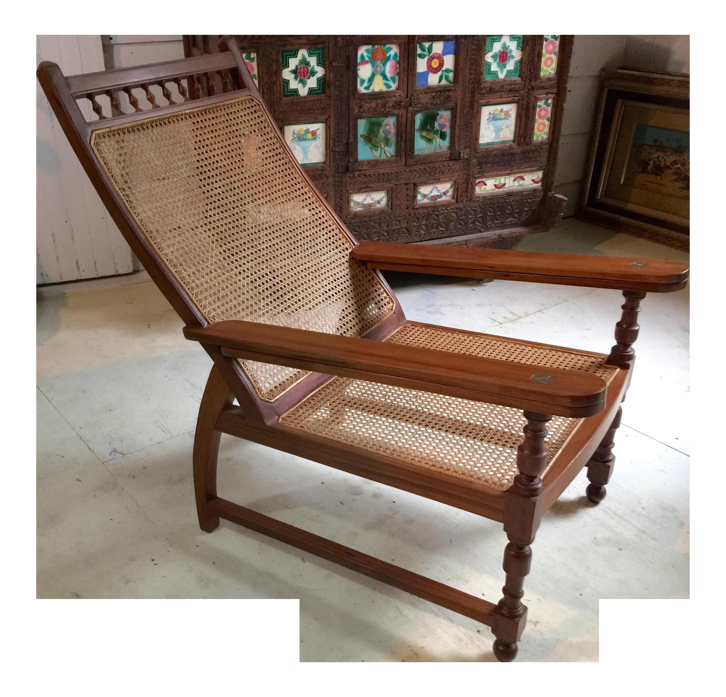 Antique Colonial Teak Plantation Chair