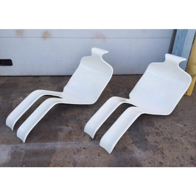 Olivier Mourgue Bouloum French Chaise Lounges- A Pair - Image 4 of 6