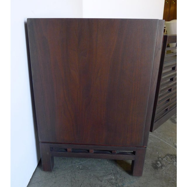 Mid-Century Modern Mid-Century Low Walnut Cabinet For Sale - Image 3 of 7