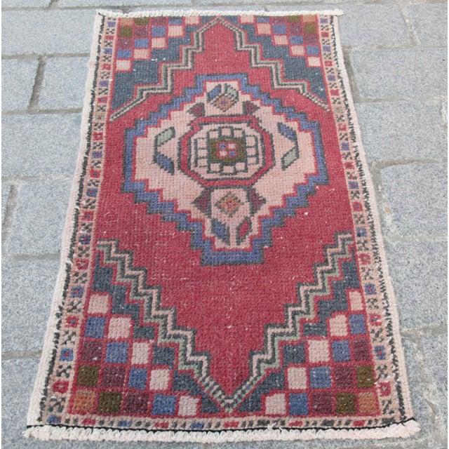 Turkish Nomadic Wool Carpet - 1′8″ × 2′10″ - Image 2 of 9