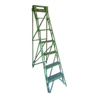 Green Wood Garden Ladder