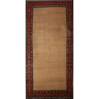 Antique Worn Out Camel Ground Gallery Size Sarab Runner- 6′6″ × 14′ For Sale