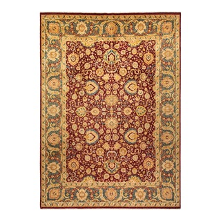 """Mogul, One-Of-A-Kind Hand-Knotted Area Rug - Red, 9' 10"""" X 13' 10"""" For Sale"""