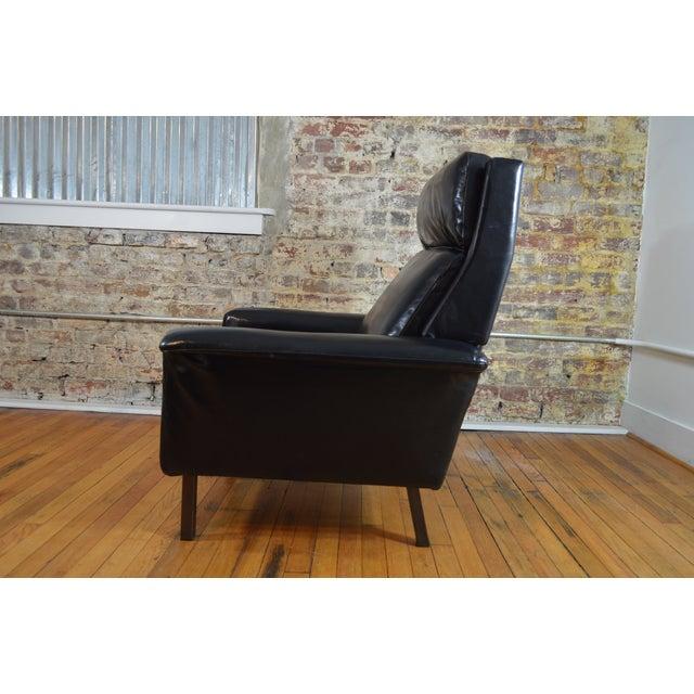 Fritz Hansen Arne Vodder for Fritz Hansen Danish Modern Leather Easy Chair For Sale - Image 4 of 7