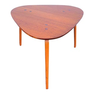 Mid Century Modern DUX Teak Side Table For Sale