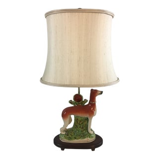 Antique Staffordshire Lamp For Sale
