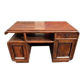 19th Century Asia Elm Executive Desk For Sale