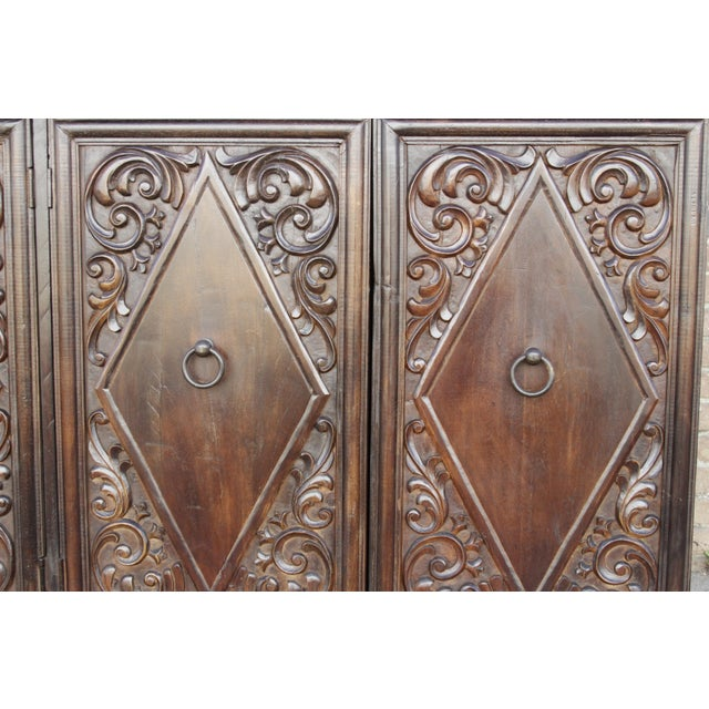 Spanish Colonial Carved Sideboard - Image 5 of 9