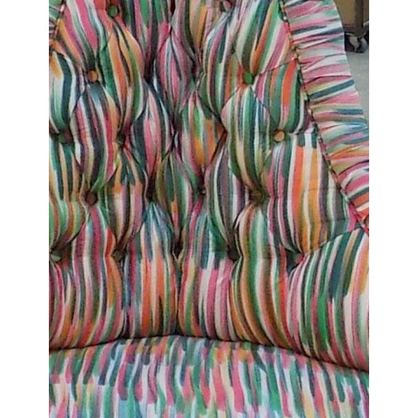 Custom Tufted Multicolored Ottoman - Image 3 of 3