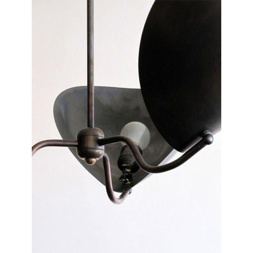"""Chiton"" Three Arm Brass Chandelier - Image 4 of 9"