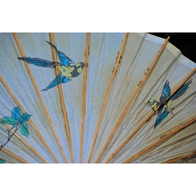 Vintage Asian Rice Paper Umbrella - Image 4 of 8