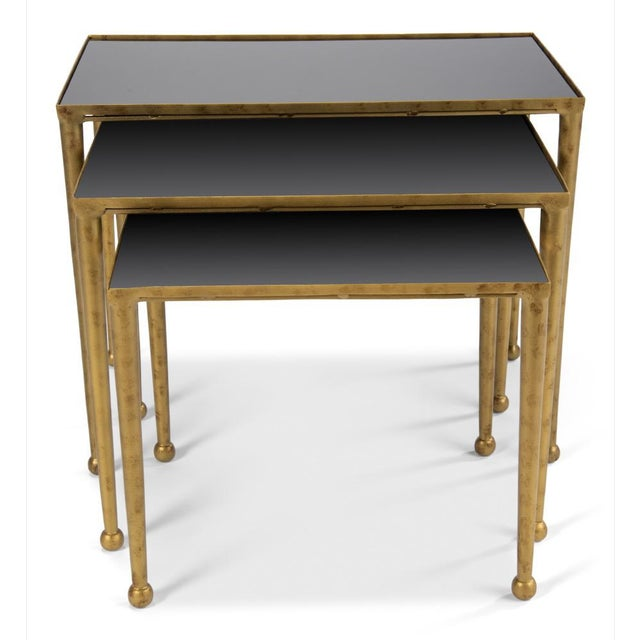 Not Yet Made - Made To Order Gilt Metal Nesting Tables - Set of 3 For Sale - Image 5 of 8