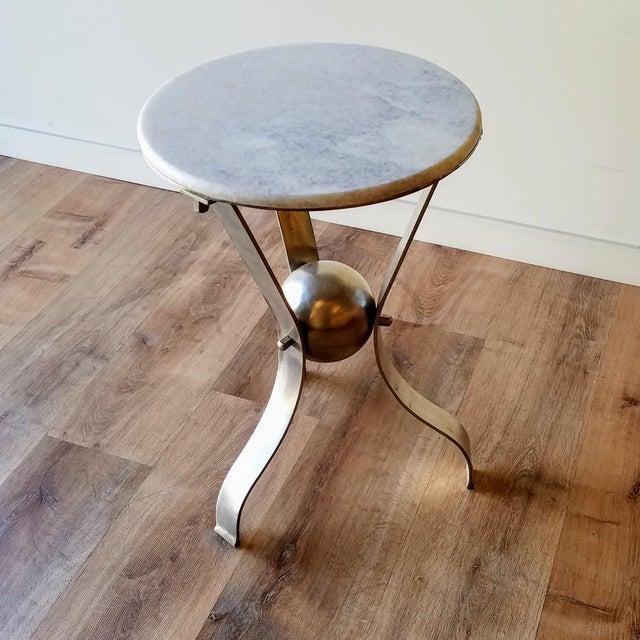 Vintage Scuptural Marble Side Table For Sale - Image 12 of 12