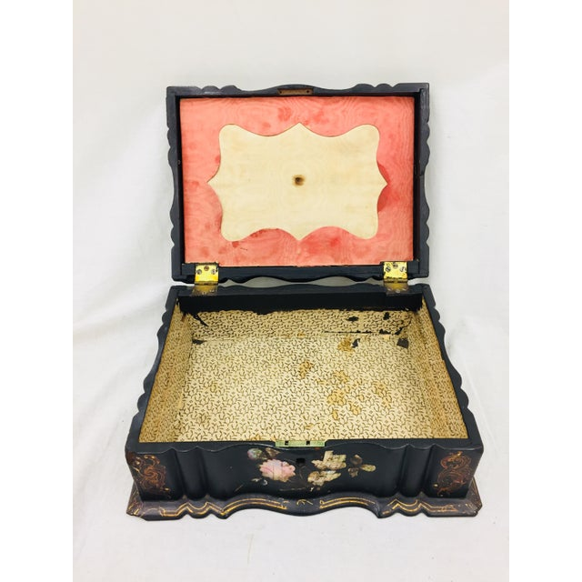 Antique Mother of Pearl Chinoiserie Box For Sale - Image 10 of 11