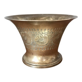 Vintage Boho Brass Pot