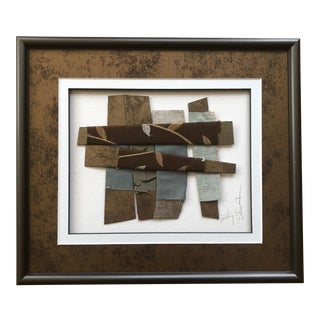 Original Contemporary Matted and Framed Textile Art For Sale