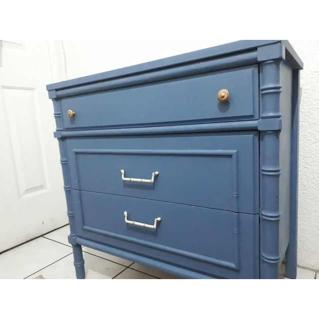 1970s 1970s Hollywood Regency Faux Bamboo Painted Chest For Sale - Image 5 of 9
