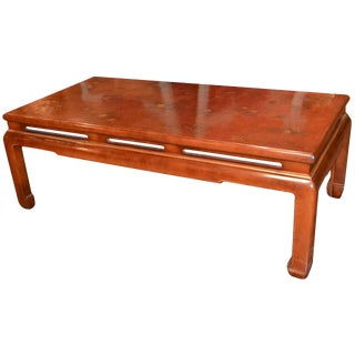 Custom French Made Oriental Coffee Table For Sale