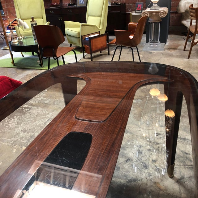 Mid-Century Modern Midcentury Dining Table in Cherrywood by Paolo Buffa for Arrighi, Italy, 1940s For Sale - Image 3 of 12