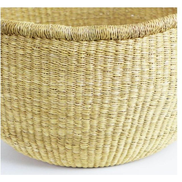 African African Bolga Woven Natural Basket For Sale - Image 3 of 8
