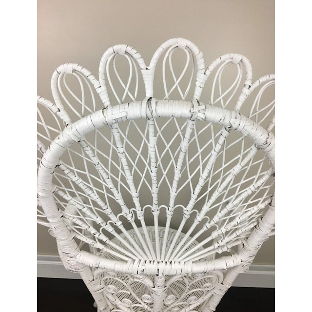 Early 20th Century Antique White Wicker Chair For Sale In Washington DC - Image 6 of 12