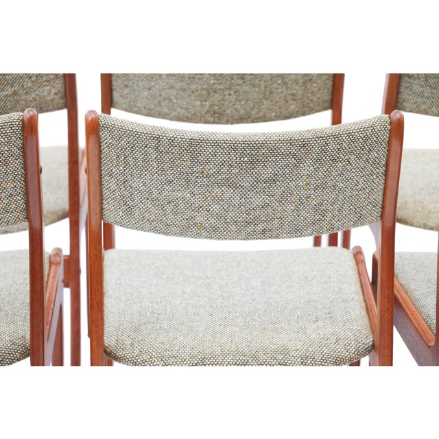Scandinavian Danish Modern Teak Dining Chairs- S/6 - Image 10 of 10