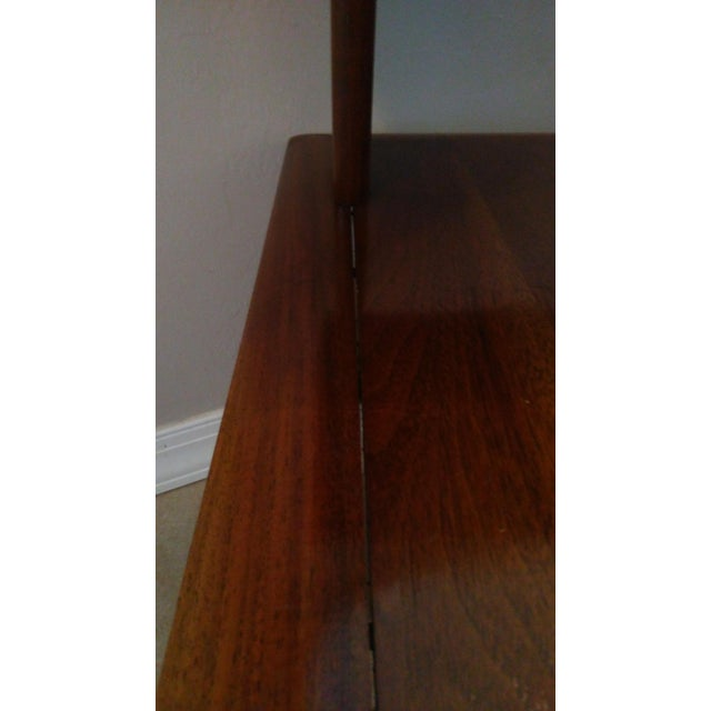 Mid-Century Modern Tiered Walnut Side Tables - Pair - Image 7 of 8