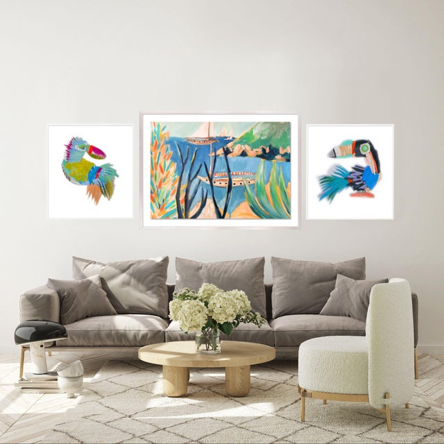 Bird's Eye Gallery Wall, Set of 3 For Sale - Image 4 of 9