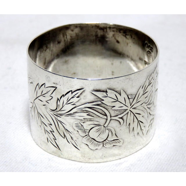 Gothic Antique American Sterling Silver Napkin Ring For Sale - Image 3 of 5
