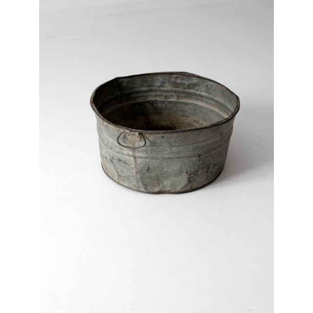 Vintage Galvanized Tub Basin - Image 2 of 8