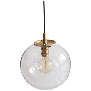 Emiter Brass Hanging Lamp, Jan Garncarek For Sale