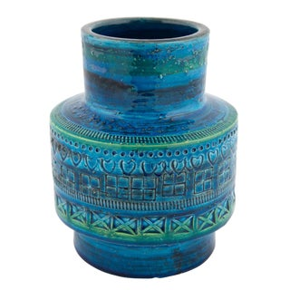 """Rimini Blu"" Ceramic Vase by Aldo Londi for Bitossi, Circa 1960s For Sale"